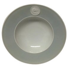 Royal Berlin, KPM Gray Rim Arkadia Individual Fruit or Salad Bowl, U.S. Zone