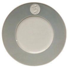 Royal Berlin, KPM Gray Rim Arkadia Luncheon Plate
