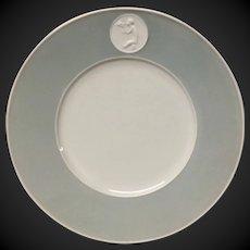Royal Berlin, KPM Gray Rim Arkadia Luncheon Plate