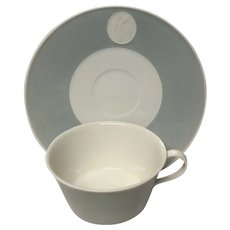 Royal Berlin, KPM Gray Rim Arkadia  Cup & Saucer Set(s)