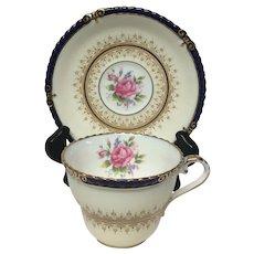 Lovely Aynsley Rutherglen Cobalt 7638 Cup & Saucer