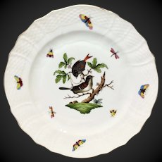 """Herend Rothschild Bird 11"""" Service  Plate or Charger RO-4"""