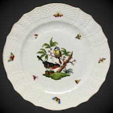 """Herend Rothschild Bird 11"""" Service  Plate or Charger RO-2"""