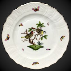"""Herend Rothschild Bird 11"""" Service  Plate or Charger RO-11"""