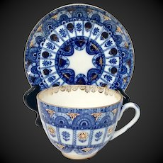 Lomonosov USSR Arches Pattern Porcelain Cup & Saucer