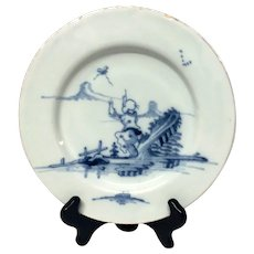 "Rare 18th Century English Delft ""Jumping Chinaman"" Plate"