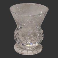 Edinburgh Crystal Thistle Pattern Footed Beaker or Vase