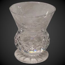 Edinburgh Crystal Thistle Pattern Footed Beaker or Vase