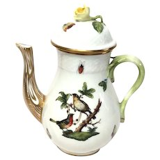 Herend Rothschild Bird (RO) Miniature Coffee Pot