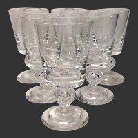 Superb Set (6) Steuben Baluster Stem 7926 Water Goblets