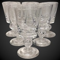 Superb Set (6) Steuben Baluster Stem 7926 Water Goblets