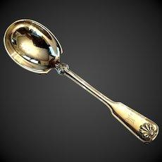 Tiffany Shell & Thread Sterling Sugar Spoon