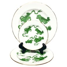 Wedgwood Williamsburg Chinese Tigers Green R4501 3-Place Setting