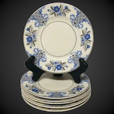 Set (6) Syracuse Old Ivory China Lady Mary Pattern Bread & Butter Plates