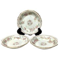 Theodore Haviland Schleiger #340 Set (3) Individual Fruit Bowls