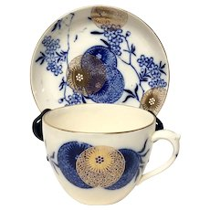 Royal Doulton Persian Spray Coffee or Breakfast Cup & Saucer