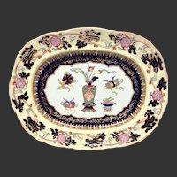 "Fine Antique Mason's Chinese Antiquities Pattern Ironstone 16"" Oval Platter"