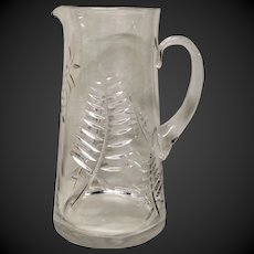 Stunning Tiffany Crystal Fern Cut Tankard Style Pitcher