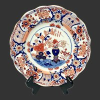 Antique Mason's Patn'd Ironstone Vase and Rock Luncheon Plate