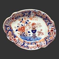 Antique Mason's Patn'd Ironstone Vase & Rock Oblong Dessert Tray
