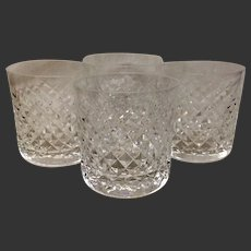 Set (4) Waterford Alana Crystal Old Fashion Tumblers