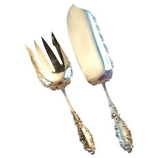 Lovely Gorham Sterling Luxembourg 2-Piece Fish Serving Set
