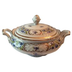 """Schumann China """"Forget Me Not"""" Covered Vegetable Bowl"""