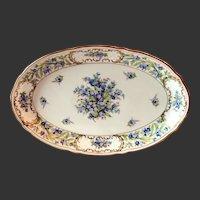 """Schumann """"Forget Me Not"""" 14"""" Oval Platter"""