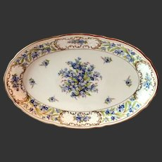 "Schumann ""Forget Me Not"" 14"" Oval Platter"