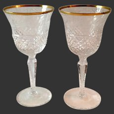 Stunning Pair (2) Ebeling& Reuss Marquis Water Goblets