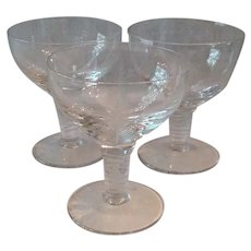 Set (3) Mid Century Stuart Woodchester Liquor Cocktail Glasses
