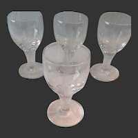 Set (4) English Stuart Crystal Woodchester Cordials