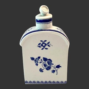 Spode Gloucester Blue Finestone Tea Caddy