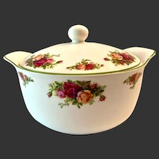 Royal Albert Old Country Roses Oven to Table Round Covered Casserole
