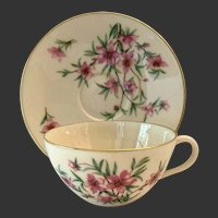 Colorful Lenox Peachtree W301 Mid Century Cup&Saucer(s)