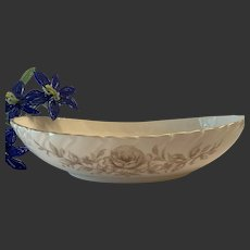 Lovely Lenox Coquette Pattern G-512 Oval Vegetable Serving Bowl
