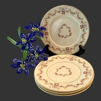 Set (4) Syracuse China Arcadia Bread& Butter Plates