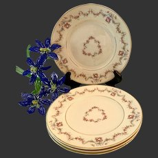 Set (4) Syracuse China Arcadia Dessert Plates