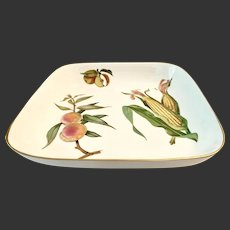 Royal Worcester Evesham Gold Square Buffet Dish