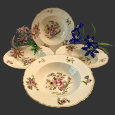 Set (4) Syracuse Fine China Portland Rim Soup Bowls