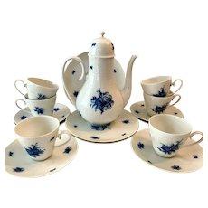 Lovely Rosenthal Bjorn Wiinblad Rhapsody Coffee Pot, Cups & Saucers, Plates