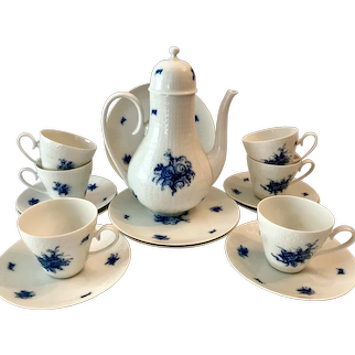 Lovely Rosenthal Bjorn Wiinblad Rhapsody Coffee Pot, Cups & Saucers, Plates