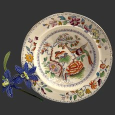 Antique Mason's Patn'd Ironstone Flying Bird Pattern Large Soup Plate