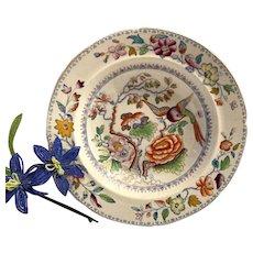 Antique Mason's Patn'd Ironstone Flying Bird Pattern Large Soup Plate