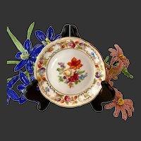 Delightful Schumann Empress Dresden Flowers Coaster Or Pin Dish