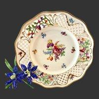 Schumann Dresden Line-Pierced Large Dinner Plate Le Trianon Habana