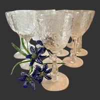 Amazing  Set (12) Seneca Crystal Stem 1936, Cut 779, Berkeley Cut Water Goblets