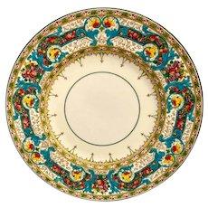 Rare Set(12) Wedgwood Vibrant Hand Painted Porcelain  Dinner Plates