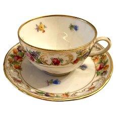 Schumann U.S. Zone Empress Dresden Flowers Demitasse  Cup & Saucer Set