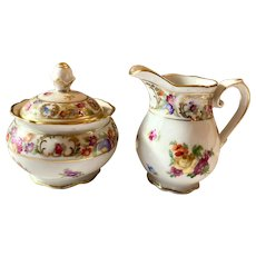 Schumann China  Dresden Line Pattern Miniature Creamer & Sugar Set